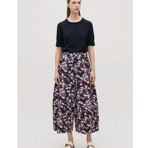 b9750c56bc2b COS Pants | Curved Wide Leg Printed Trousers | Poshmark